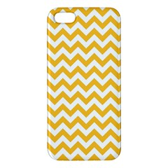 Sunny Yellow And White Zigzag Pattern Apple iPhone 5 Premium Hardshell Case