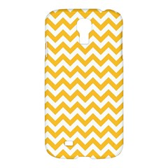 Sunny Yellow And White Zigzag Pattern Samsung Galaxy S4 I9500/I9505 Hardshell Case