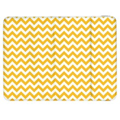 Sunny Yellow And White Zigzag Pattern Samsung Galaxy Tab 7  P1000 Flip Case
