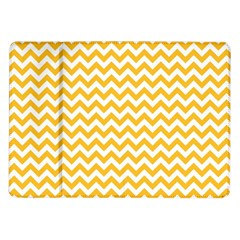 Sunny Yellow And White Zigzag Pattern Samsung Galaxy Tab 10.1  P7500 Flip Case