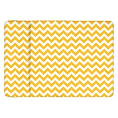 Sunny Yellow And White Zigzag Pattern Samsung Galaxy Tab 8 9  P7300 Flip Case