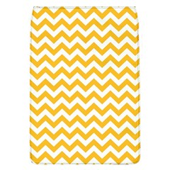 Sunny Yellow And White Zigzag Pattern Removable Flap Cover (large)