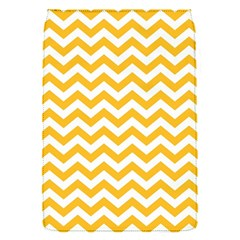 Sunny Yellow And White Zigzag Pattern Removable Flap Cover (Small)