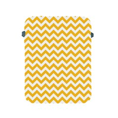 Sunny Yellow And White Zigzag Pattern Apple iPad Protective Sleeve