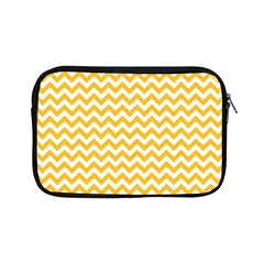Sunny Yellow And White Zigzag Pattern Apple iPad Mini Zippered Sleeve