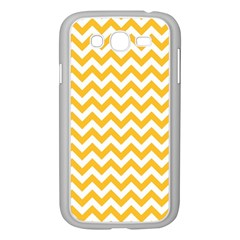Sunny Yellow And White Zigzag Pattern Samsung Galaxy Grand DUOS I9082 Case (White)