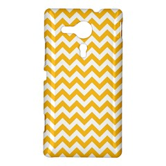 Sunny Yellow And White Zigzag Pattern Sony Xperia SP M35H Hardshell Case