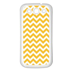 Sunny Yellow And White Zigzag Pattern Samsung Galaxy S3 Back Case (white)