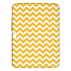 Sunny Yellow And White Zigzag Pattern Samsung Galaxy Tab 3 (10 1 ) P5200 Hardshell Case