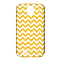 Sunny Yellow And White Zigzag Pattern Samsung Galaxy S4 Classic Hardshell Case (PC+Silicone)