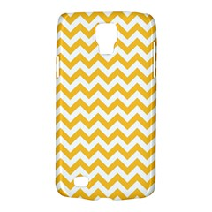 Sunny Yellow And White Zigzag Pattern Samsung Galaxy S4 Active (i9295) Hardshell Case