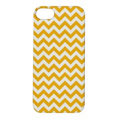 Sunny Yellow And White Zigzag Pattern Apple Iphone 5s Hardshell Case