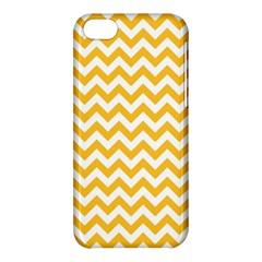 Sunny Yellow And White Zigzag Pattern Apple iPhone 5C Hardshell Case