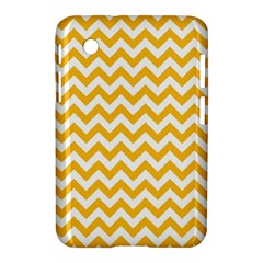 Sunny Yellow And White Zigzag Pattern Samsung Galaxy Tab 2 (7 ) P3100 Hardshell Case