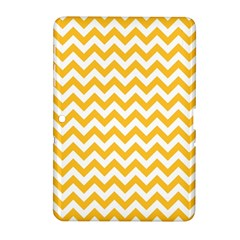 Sunny Yellow And White Zigzag Pattern Samsung Galaxy Tab 2 (10.1 ) P5100 Hardshell Case