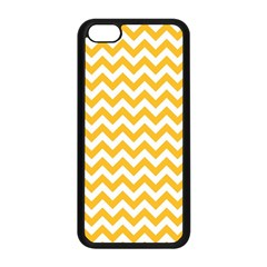 Sunny Yellow And White Zigzag Pattern Apple iPhone 5C Seamless Case (Black)