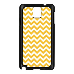 Sunny Yellow And White Zigzag Pattern Samsung Galaxy Note 3 N9005 Case (Black)