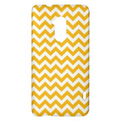Sunny Yellow And White Zigzag Pattern HTC One Max (T6) Hardshell Case
