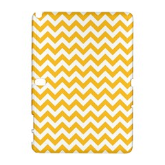 Sunny Yellow And White Zigzag Pattern Samsung Galaxy Note 10.1 (P600) Hardshell Case