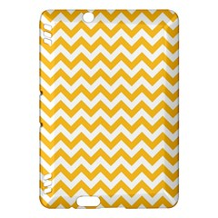 Sunny Yellow And White Zigzag Pattern Kindle Fire HDX 7  Hardshell Case