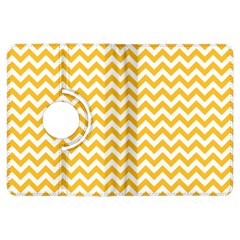 Sunny Yellow And White Zigzag Pattern Kindle Fire Hdx 7  Flip 360 Case