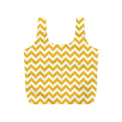 Sunny Yellow And White Zigzag Pattern Reusable Bag (s)
