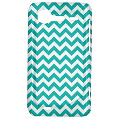 Turquoise And White Zigzag Pattern HTC Incredible S Hardshell Case
