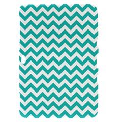 Turquoise And White Zigzag Pattern Samsung Galaxy Tab 8.9  P7300 Hardshell Case