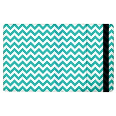 Turquoise And White Zigzag Pattern Apple Ipad 3/4 Flip Case