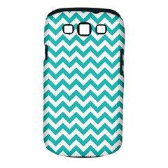 Turquoise And White Zigzag Pattern Samsung Galaxy S III Classic Hardshell Case (PC+Silicone)