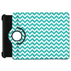 Turquoise And White Zigzag Pattern Kindle Fire HD 7  (1st Gen) Flip 360 Case