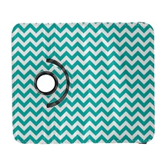 Turquoise And White Zigzag Pattern Samsung Galaxy S  III Flip 360 Case