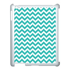 Turquoise And White Zigzag Pattern Apple Ipad 3/4 Case (white)