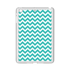Turquoise And White Zigzag Pattern Apple iPad Mini 2 Case (White)