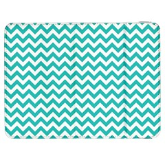 Turquoise And White Zigzag Pattern Samsung Galaxy Tab 7  P1000 Flip Case