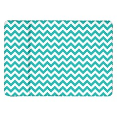 Turquoise And White Zigzag Pattern Samsung Galaxy Tab 8.9  P7300 Flip Case