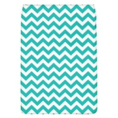 Turquoise And White Zigzag Pattern Removable Flap Cover (Large)