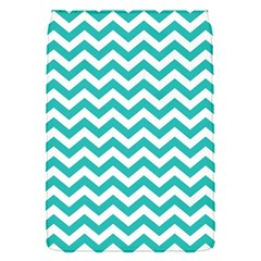 Turquoise And White Zigzag Pattern Removable Flap Cover (Small)