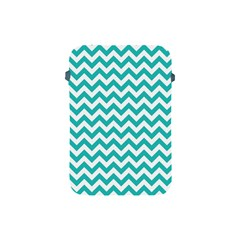 Turquoise And White Zigzag Pattern Apple Ipad Mini Protective Sleeve