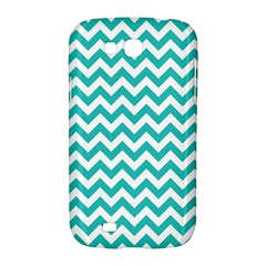 Turquoise And White Zigzag Pattern Samsung Galaxy Grand GT-I9128 Hardshell Case