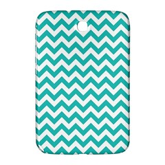 Turquoise And White Zigzag Pattern Samsung Galaxy Note 8.0 N5100 Hardshell Case