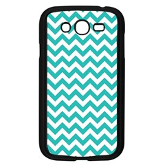 Turquoise And White Zigzag Pattern Samsung Galaxy Grand Duos I9082 Case (black)