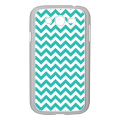 Turquoise And White Zigzag Pattern Samsung Galaxy Grand DUOS I9082 Case (White)