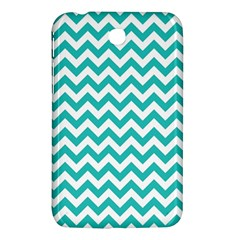 Turquoise And White Zigzag Pattern Samsung Galaxy Tab 3 (7 ) P3200 Hardshell Case