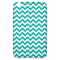 Turquoise And White Zigzag Pattern Samsung Galaxy Tab 3 (8 ) T3100 Hardshell Case