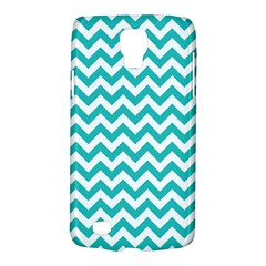 Turquoise And White Zigzag Pattern Samsung Galaxy S4 Active (I9295) Hardshell Case