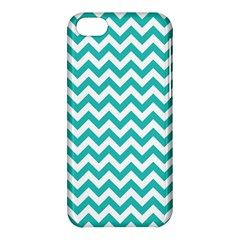 Turquoise And White Zigzag Pattern Apple iPhone 5C Hardshell Case