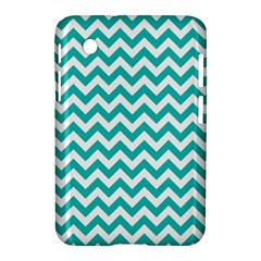 Turquoise And White Zigzag Pattern Samsung Galaxy Tab 2 (7 ) P3100 Hardshell Case