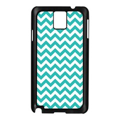 Turquoise And White Zigzag Pattern Samsung Galaxy Note 3 N9005 Case (black)