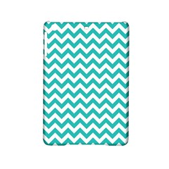 Turquoise And White Zigzag Pattern Apple iPad Mini 2 Hardshell Case